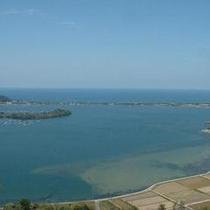 かぶと山から眺めた久美浜湾