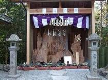 神明神社に作られた【長寿の館】。