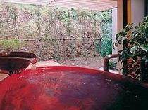 貸切専用の露天風呂は2つ。栄天の湯
