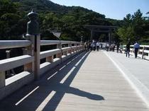 伊勢神宮内宮さんの宇治橋です