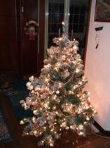 玄関横のクリスマスツリー