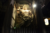東大寺南大門吽形像ライトアップ