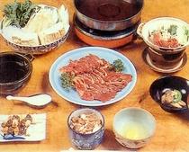 鴨すき焼き一式(※冬の料理例)