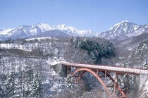 冬の東沢大橋