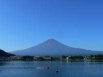 朝昼晩 昼の富士山