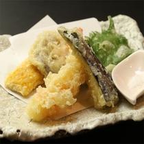 夕食の一例(天麩羅)
