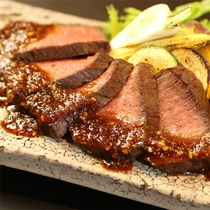 夕食の一例(お肉)