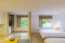 205号室 北欧スタイルと和が融合した和室付デラックスツイン