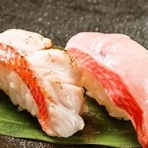 絶品!地金目鯛の握り寿司