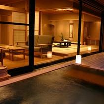 1階本間+次の間_露天風呂付客室