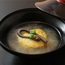 【お料理一例】焼蕗の薹豆腐と扇面蕪のみぞれ仕立て