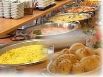 朝食バイキング無料サービス!!一日の活力にしっかりとお召し上がりくださいませ♪