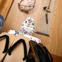 *【館内:オブジェ】女将手作りのふくろうが皆様をお出迎え