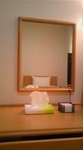 客室内のデスクと鏡