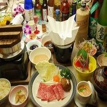 夕食:品数少なめメイングレードアッププラン