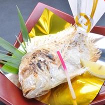 鯛の祝い塩焼き