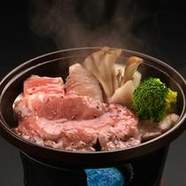 *和牛の陶板焼き(一例)
