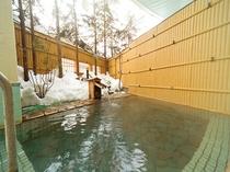 男子露天風呂 冬季