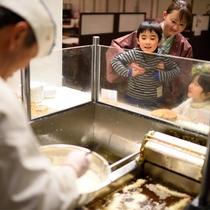 朝食バイキング 天ぷらコーナー