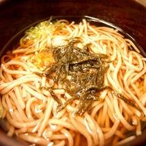 *夕食(そば)