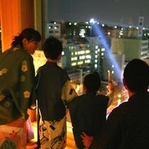 城見櫓から高知城をライトアップ
