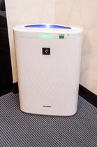 加湿機能付空気清浄機(全室完備)