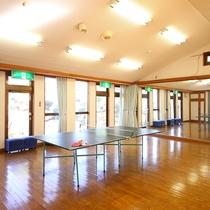◆ホールには無料の卓球台や畳、壁面大型鏡がございます。フロントでお尋ねください。