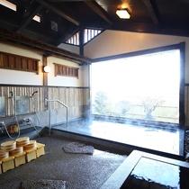 □【女性大浴場】吹き抜けの開放感のある造り。
