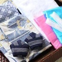 ◇夏用アメニティ タオル、浴衣、歯ブラシをご用意しております。