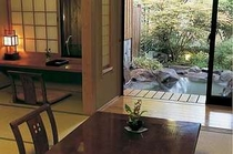 すすき部屋からの露天風呂