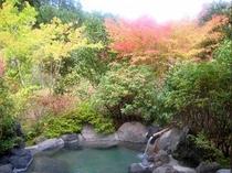 露天風呂付2間すずしろ秋の露天風呂