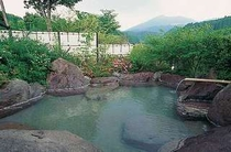 緑の女性用露天風呂