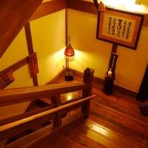 地下1階へと続く階段