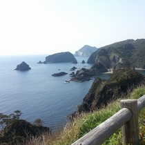 奥石廊崎からの景色