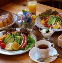 新鮮元気印の朝食例