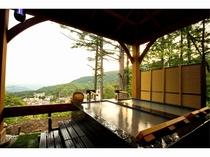 見事な眺望の貸切露天風呂『恵比寿天』