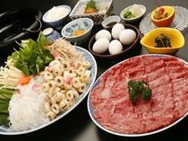 国産牛すき焼き(お造り付)イメージ