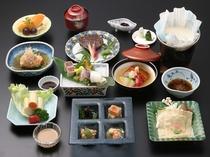 お豆腐手作り体験 湯葉会席料理イメージ