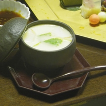 *【ご夕食一例】のどごしなめらかで優しい味の茶碗蒸し