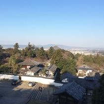*東大寺二月堂からの風景。坂道を登るとキレイな景色が見えます