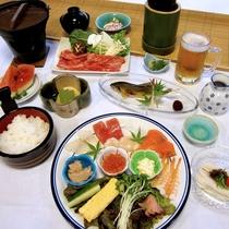 夕食は楽しい手巻き寿司としゃぶしゃぶorすき焼きで大満足♪お腹一杯召し上がれ!