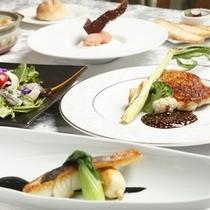 地魚と地鶏のコース 一例