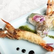 海老の創作料理 一例