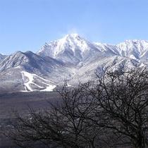 冬の八ヶ岳の絶景(しし岩峠より)