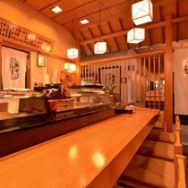 """*蟹海楽(カウンター席)/""""蟹""""と""""寿司""""の美味しさを追求。板長の探究心、まだまだ続きます。"""