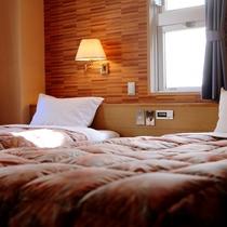 ■全て角部屋のスタンダードツインルームはベッドはシングルベッド×2です■DXツインは本館へどうぞ■