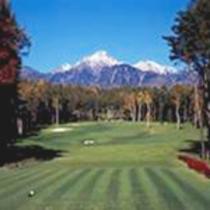 ゴルフと山