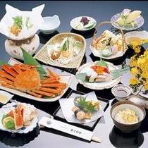 蟹一匹付会席料理一例