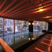 庭園大浴場2F「巌の湯」15:00~25:00/5:00~9:30男女入替制