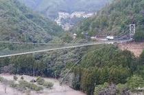 日本一 谷瀬の吊り橋
